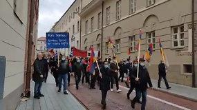 Lietuvoje gyvenančių armėnų eitynės, skirtos išreikšti paramą Armėnijos pusei neseniai atsinaujinusiame Kalnų Karabacho konflikte