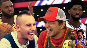 """Reikia pamatyti: """"Atsarginiai. Pradžia"""" NBA 2K turnyro pusfinalyje – J.Nainys prieš K.Tiškevičių"""