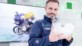 K.Mieliauskas pasakoja apie pasiruošimą rekordinei kelionei motociklu į  šalčiausią pasaulio gyvenvietę