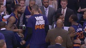 """""""Suns"""" žaidėjų konfliktas vos nevirto muštynėmis tarpusavyje"""