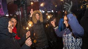 Vilniuje griausmingai sutikti Naujieji metai