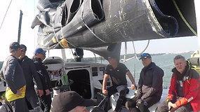 """""""Ambersail 2"""" treniruotė prieš lenktynių su """"Sailing Poland"""" startą"""