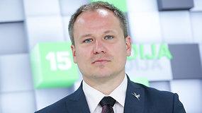 15min studijoje lankėsi paskirtasis žemės ūkio ministras Giedrius Surplys