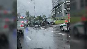 Nufilmuotas eismo įvykis Vilniaus Kalvarijų gatvėje