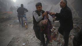 Kraupūs skaičiai parodo, kiek sirų žuvo dėl V.Putino ir B.al-Assado sprendimų