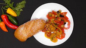 Receptas. Keptų daržovių ir avinžirnių salotos tiks ir pietums, ir vakarienei