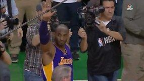 Emocingas Kobe Bryanto atsisveikinimas su Bostonu