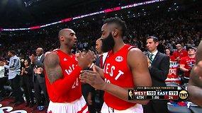 Kobe Bryantas paskutinį kartą palieka aikštę Visų žvaigždžių rungtynėse