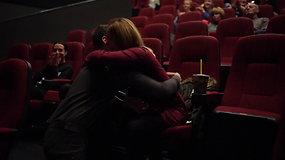 Klaipėdietis Darius sukūrė filmuką ir mylimajai Irmai pasipiršo kino teatre