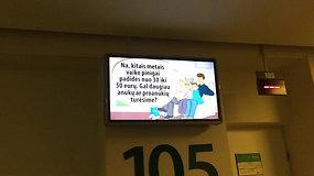 Vyriausybės reklama poliklinikoje