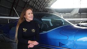 Iš operinio dainavimo mergina pasuko į aviaciją ir svajoja apie akrobatinį skraidymą