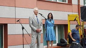 Prezidento tėtis Antanas Nausėda mokiniams davė patarimą