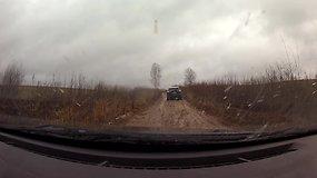 Žiemos ralio trasa Vaidoto Žalos akimis: daug purvo, lietus ir balos