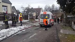 Vilniuje sprogus katilui apgriuvo gyvenamasis namas