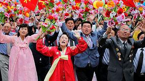 Paradas, kurios neišvysite niekur kitur: Šiaurės Korėja švenčia