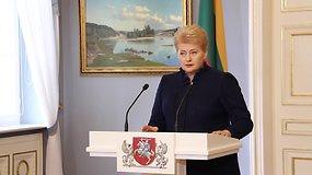 Dalia Grybauskaitė vetavo ir Dirbtinio apvaisinimo įstatymą