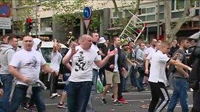 Lenkijos futbolo sirgalių eisena Madride prasiveržė smurtu