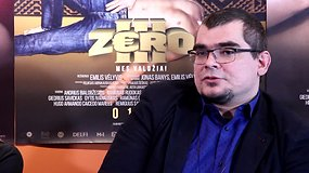 """E.Vėlyvis apie """"Zero III"""": """"Tai yra pirmas filmas, kur sunkiausia bus nuspėti žiūrovo emociją"""""""