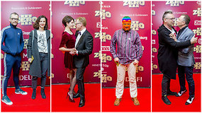 """""""Zero 3"""" premjeros raudonu kilimu žengę aktoriai ir svečiai buvo itin smagiai nusiteikę"""