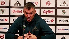 """Š.Jasikevičius: """"Kuo rungtynių mažiau, tuo jos vis svarbesnės"""""""