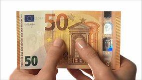 Naujasis 50 eurų banknotas: susipažinkite su pagrindiniais apsaugos požymiais