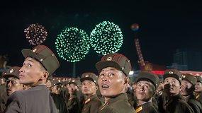 Vandenilinę bombą išbandžiusi Šiaurės Korėja surengė pompastišką šventę