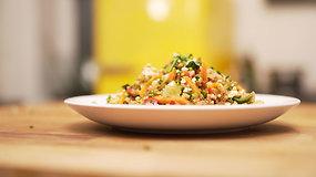 Grikių salotos su daržovėmis – greita ir sveika
