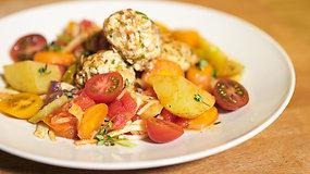 Paprasta ir pigu: gardūs vištienos kukulaičiai su daržovėmis