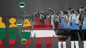 Baltijos kelias: kaip ilgiausia žmonių grandinė tapo svarbiu įvykiu žygyje link Nepriklausomybės