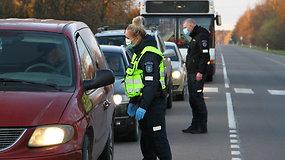 Panevėžio policija kontroliuoja įvažiavimus į miestą