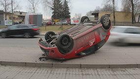 """""""Audi"""" ir """"Toyota"""" avarija Panevėžyje"""