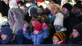 Kalėdų eglutės įžiebimas Panevėžyje