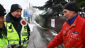 Panevėžio policijos pareigūnai kontroliavo pėsčiuosius ir dviratininkus