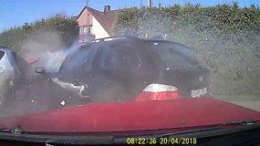 Vaizdo registratoriumi užfiksuota avarija Panevėžyje