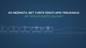 Ko nežinote apie traukinius: ar tikrai elgiatės saugiai?