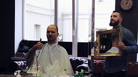 Audrius Bružas neatsispyrė Panevėžio stileivų pamėgtai procedūrai