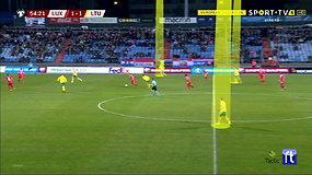 Žvilgsnis į rungtynes Liuksemburge: antrasis įvartis į Lietuvos vartus