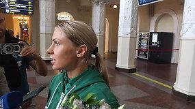 """Su taure, aukso medaliu ir olimpiniu kelialapiu grįžusi Laura Asadauskaitė-Zadneprovskienė: """"Širdyje dabar ramiau"""""""