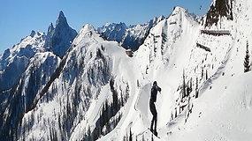 """Patricija Ivanovaitė """"Absoliut"""" parke Austrijoje atlieka vadinamąjį didįjį šuolį (""""Big Air"""")"""