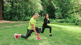 Sportuojame lauke: efektyvūs pratimai visam kūnui
