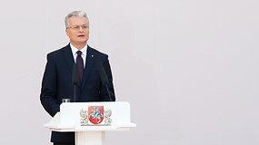 G.Nausėdos kalba S.Daukanto aikštėje: šiandien esu nepriklausomas prezidentas