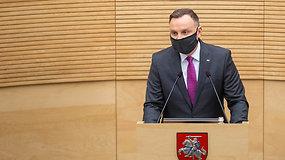 Lenkijos prezidentas Andrzejus Duda: Lenkai ir lietuviai vis labiau įtvirtina bendrumo jausmą