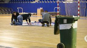 Prieš Kosovo ir Lietuvos rungtynes – Prištinos arena priminė statybų aikštelę