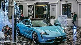 """""""Porsche Taycan"""" pristatymas Vilniuje"""