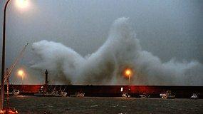 Pietinei Japonijos daliai smogė galingas taifūnas