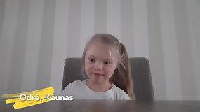 """Kovo 21-oji – pasaulinė Dauno sindromo diena. Lietuvos vaikai sako """"Labas"""""""