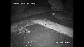 Seredžiuje vagis apiplėšė degalinę, o prieš tai sudaužė vaizdo stebėjimo kamerą