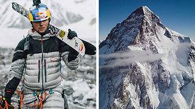 Lenkas tapo pirmuoju žmogumi, slidėmis nusileidusiu nuo pavojingiausio kalno pasaulyje