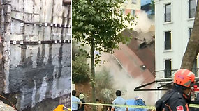 Neatlaikė pastato kapitalinė siena – sugriuvo keturaukštis namas
