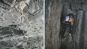 Be saugumo įrangos į 4208 m kalno viršūnę užkopęs šveicaras pasiekė greičio rekordą